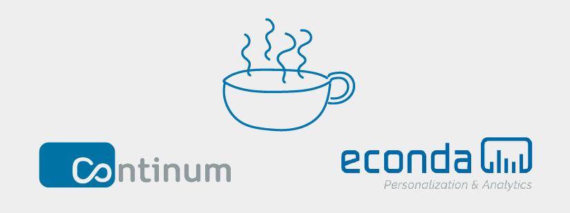 Coffee Break Livetalk mit der Continum AG und der econda GmbH.